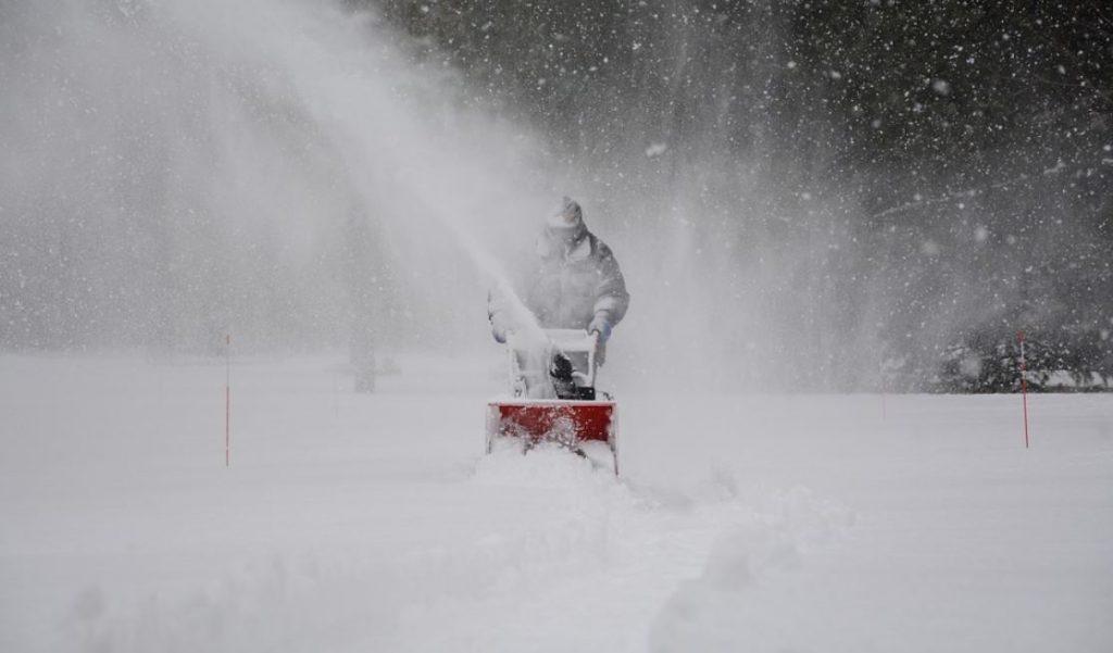 Snöslunga som klarar en en utmaning